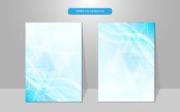Vector abstract cover design template tech innovative concept Stock Image