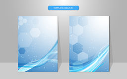 Vector abstract cover design wave pattern background Stock Images
