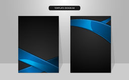 Vector abstract cover rectangle pattern design background Royalty Free Stock Image