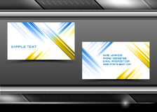 Vector abstract creative business cards Stock Images