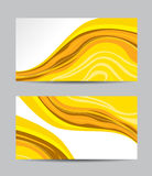 Vector abstract creative business cards Stock Photography