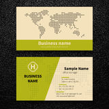 Vector abstract creative business cards Stock Image