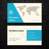 Vector abstract creative business cards Royalty Free Stock Photo