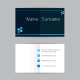 Vector abstract creative business cards set template on gray bac Royalty Free Stock Photography