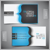Vector set of creative business cards Royalty Free Stock Photos