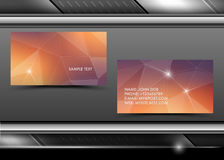 Vector abstract creative business cards Stock Photos