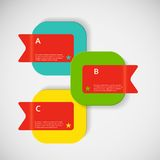 Vector abstract creative square color box Royalty Free Stock Images