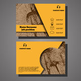 Vector abstract creative wooden design business cards eps 10 Stock Image