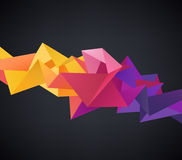 Vector Abstract Crystal 3d Faceted Geometric Origami Rainbow Background Stock Photos