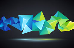 Vector abstract crystal 3d faceted geometric origami rainbow background Royalty Free Stock Photo