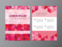 Vector abstract crystal pink, red modern flyer Royalty Free Stock Photography