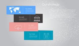 Vector abstract cube infographic network template Royalty Free Stock Photography
