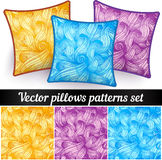 Vector abstract curls pillows patterns Royalty Free Stock Photography