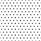 Vector abstract cute background with black dots royalty free illustration