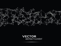 Vector abstract cybernetic particles Royalty Free Stock Photo