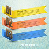 Vector abstract 3d banner infographics. Can be used for workflow layout, diagram, number options, web design Royalty Free Stock Photo