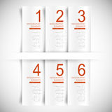 Vector abstract 3d banner infographics Royalty Free Stock Image
