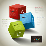 Vector abstract 3d box infographics Royalty Free Stock Images