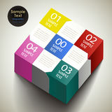Vector abstract 3d box infographics Royalty Free Stock Photos