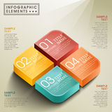 Vector abstract 3d box infographics Stock Photos