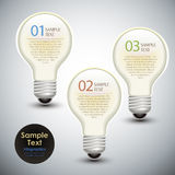 Vector abstract 3d bulb infographics Stock Image