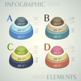 Vector abstract 3d button infographics. Vector abstract 3d button infographic elements stock illustration