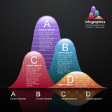 Vector abstract 3d chart infographics. Can be used for workflow layout, diagram, number options, web design Stock Photo