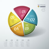 Vector abstract 3d chart infographics Stock Images