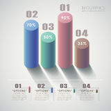 Vector abstract 3d chart infographics Stock Photo