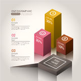 Vector abstract 3d chart infographics. Vector abstract 3d chart infographic elements Royalty Free Stock Photos