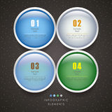 Vector abstract 3d circle infographics Royalty Free Stock Photos