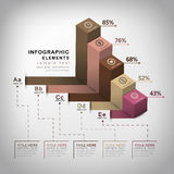 Vector abstract 3d cube infographics. Vector abstract 3d cube infographic elements stock illustration