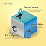 Vector abstract 3d cube infographics Royalty Free Stock Photo