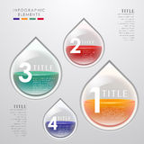 Vector abstract 3d drop infographics. Can be used for workflow layout, diagram, number options, web design Stock Image