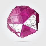 Vector. Abstract 3D geometric illustration. Abstract 3D geometric illustration. Gold sphere over white background Vector Illustration