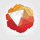 Vector. Abstract 3D geometric illustration Stock Photo