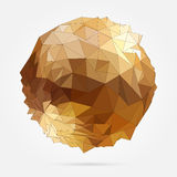 Vector. Abstract 3D geometric illustration. Abstract 3D geometric illustration. Gold sphere on white background Vector Illustration