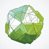 Vector. Abstract 3D geometric illustration. Abstract 3D geometric illustration. Sphere on white background Stock Illustration