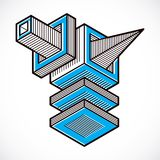 Vector abstract 3d geometric shape, polygonal figure. Abstract art illustration Royalty Free Illustration