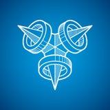 Vector abstract 3d geometric shape, polygonal figure. Modern geometric art illustration Royalty Free Stock Image