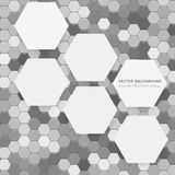 Vector abstract 3d hexagonal royalty free illustration