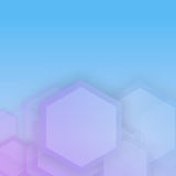 Vector abstract 3d hexagonal. Background with hexagon element Stock Photography