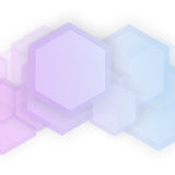 Vector abstract 3d hexagonal. Background with hexagon element Royalty Free Stock Photography