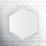 Vector abstract 3d hexagonal. Background with hexagon element Royalty Free Stock Images