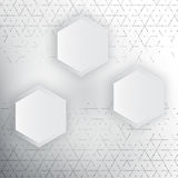 Vector abstract 3d hexagonal. Background with hexagon element Royalty Free Illustration