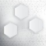 Vector abstract 3d hexagonal. Background with hexagon element Stock Photos