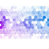 Vector abstract 3d hexagonal. Background with hexagon element Stock Photo