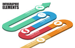 Vector abstract 3d infographic. Elements Stock Photography