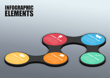 Vector abstract 3d infographic. Elements vector illustration