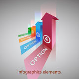 Vector abstract 3d infographic elements royalty free illustration